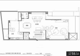 新古典家居别墅一层设计图