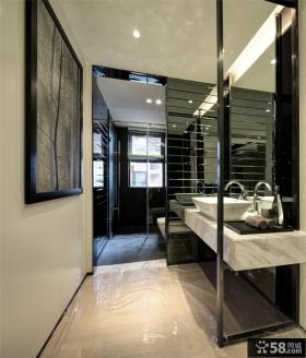 家装洗手间隔断装修效果图片