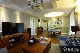 美式客厅设计装修效果图