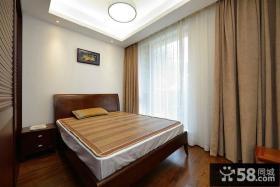 中式风格小卧室装修窗帘图片