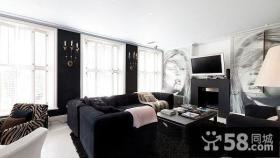 6万打造浪漫美式风格客厅飘窗装修效果图大全2014图片