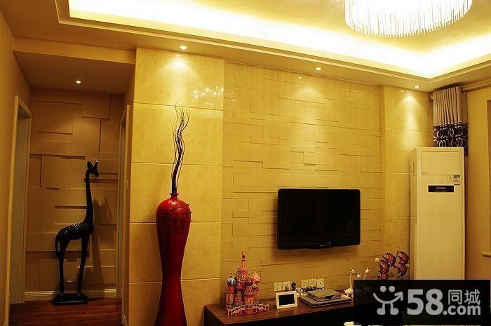 美式客厅电视背景