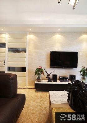 现代简约家装电视背景墙效果图