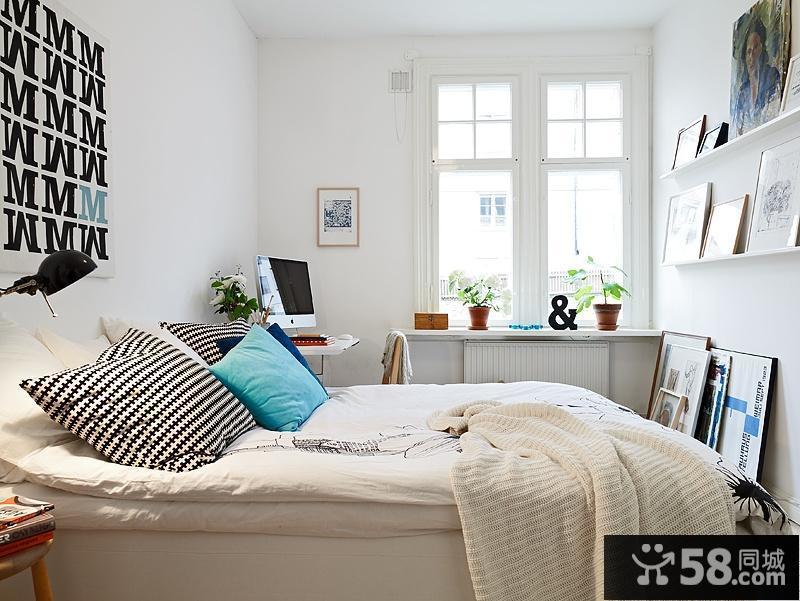 二室二厅北欧清新的客厅飘窗装修效果图大全2012图片