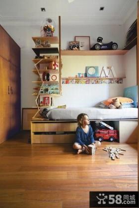 田园风格装修儿童房图片