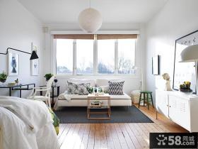 现代小户型大窗户阳光房客厅装修效果图