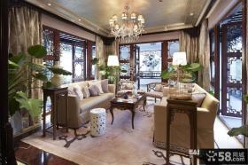 中式风格别墅客厅装修效果图大全图片