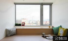 日式简约客厅电视背景墙效果图片