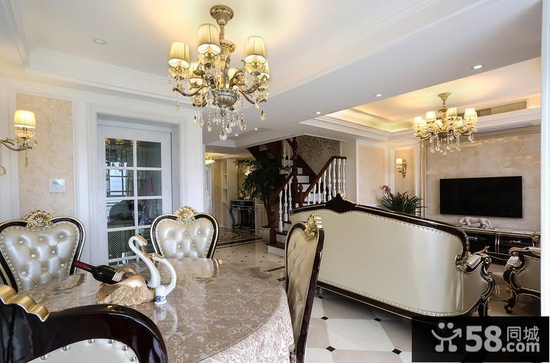 现代美式客厅背景