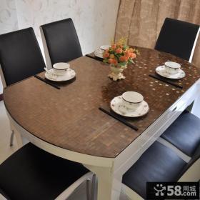 餐桌软玻璃桌布效果图