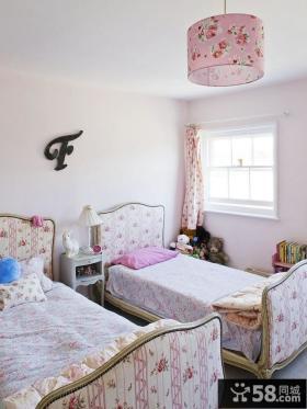 90平小户型浪漫田园风格双胞胎儿童房装修