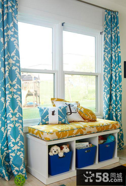 飘窗窗帘设计效果图片欣赏