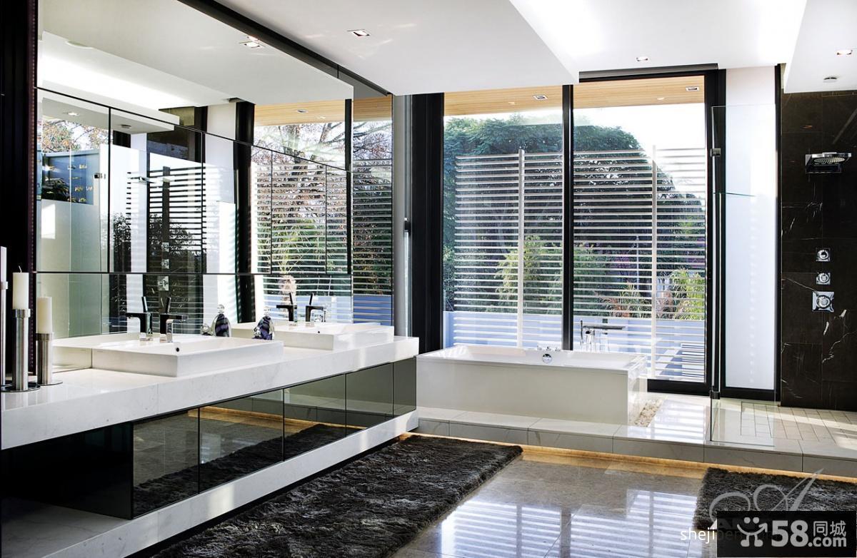 现代别墅设计 卫生间装修效果图大全2013图片