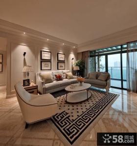 最新欧式家居住房客厅装修图