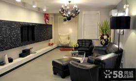 简约风格家装客厅电视背景墙效果图片