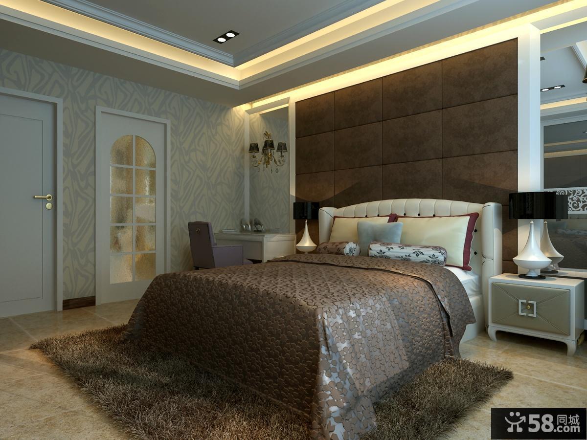 现代家装主卧室效果图