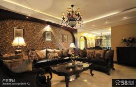 最新美式客厅装修图片大全