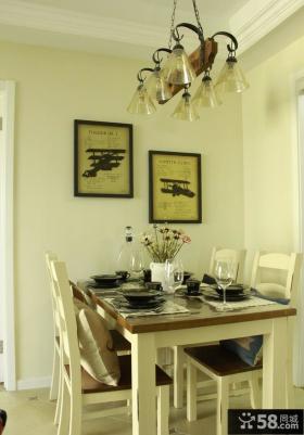 家居简约美式餐厅设计效果图片