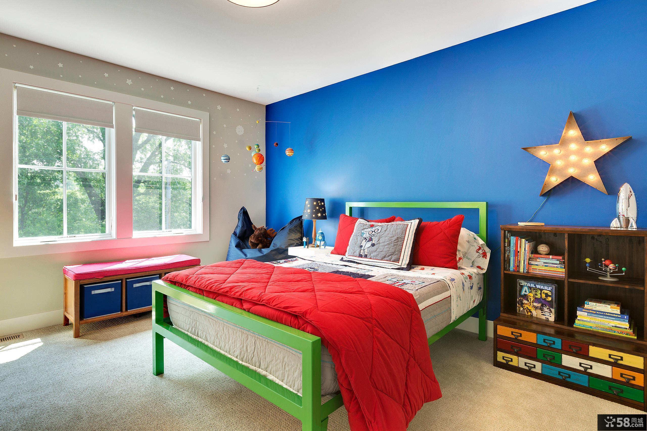 混搭男孩小孩房儿童房设计