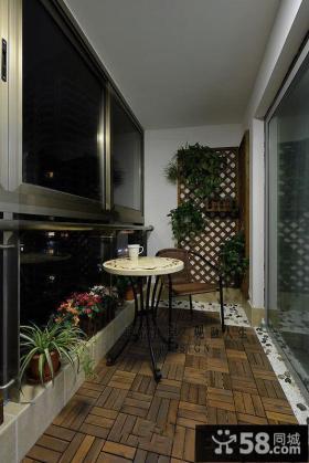 现代阳台田园装修设计图片