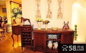 红木茶水柜图片