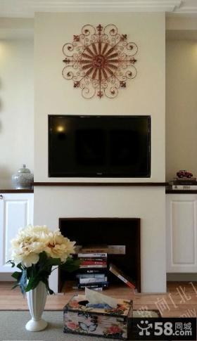 田园风格装修电视背景墙效果图