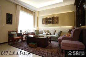 2013家装客厅家具摆放装修效果图