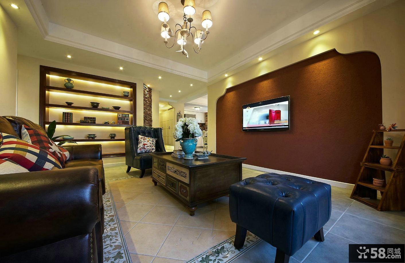 美式装修100平米两居室设计