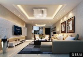 2013现代客厅电视机背景墙装修效果图