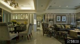 乡村美式风格别墅室内客厅效果图