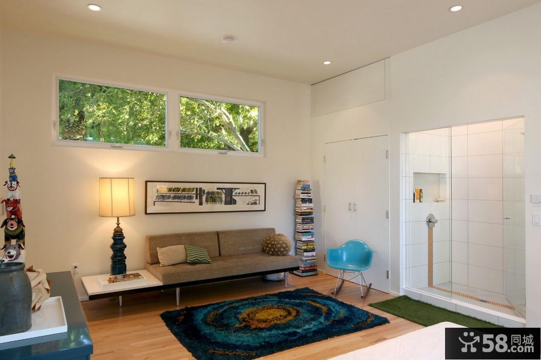 小户型家庭卧室装修效果图大全2012图片