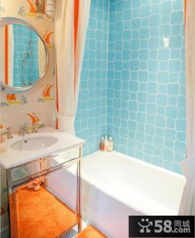 小卫生间装修效果图 4米卫生间瓷砖效果图
