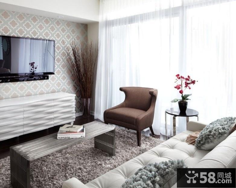现代时尚风格电视背景墙