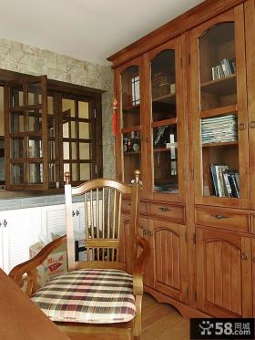 书房实木书柜设计图