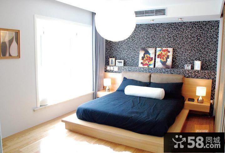 卧室带飘窗设计实景图片