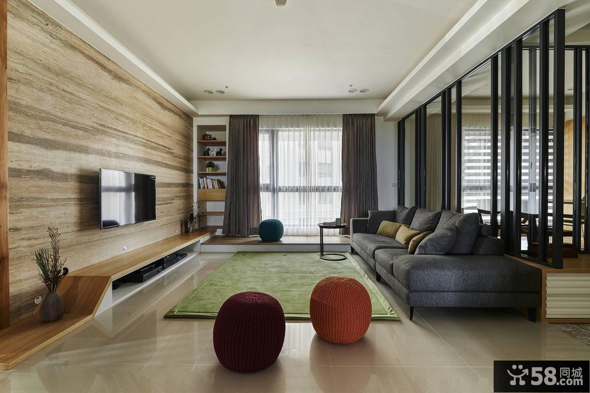 87平方宜家装修二居室户型室内设计图片