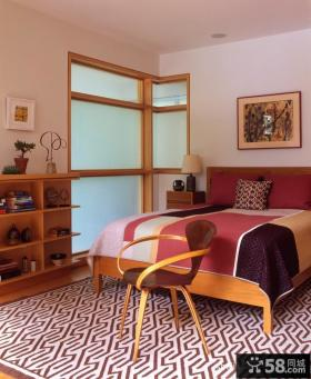 四居室自然色单身公寓卧室装修效果图大全2013图片
