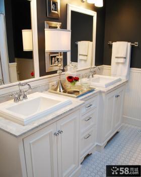 欧式小卫生间浴室柜效果图