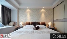 卧室落地窗帘装修效果图