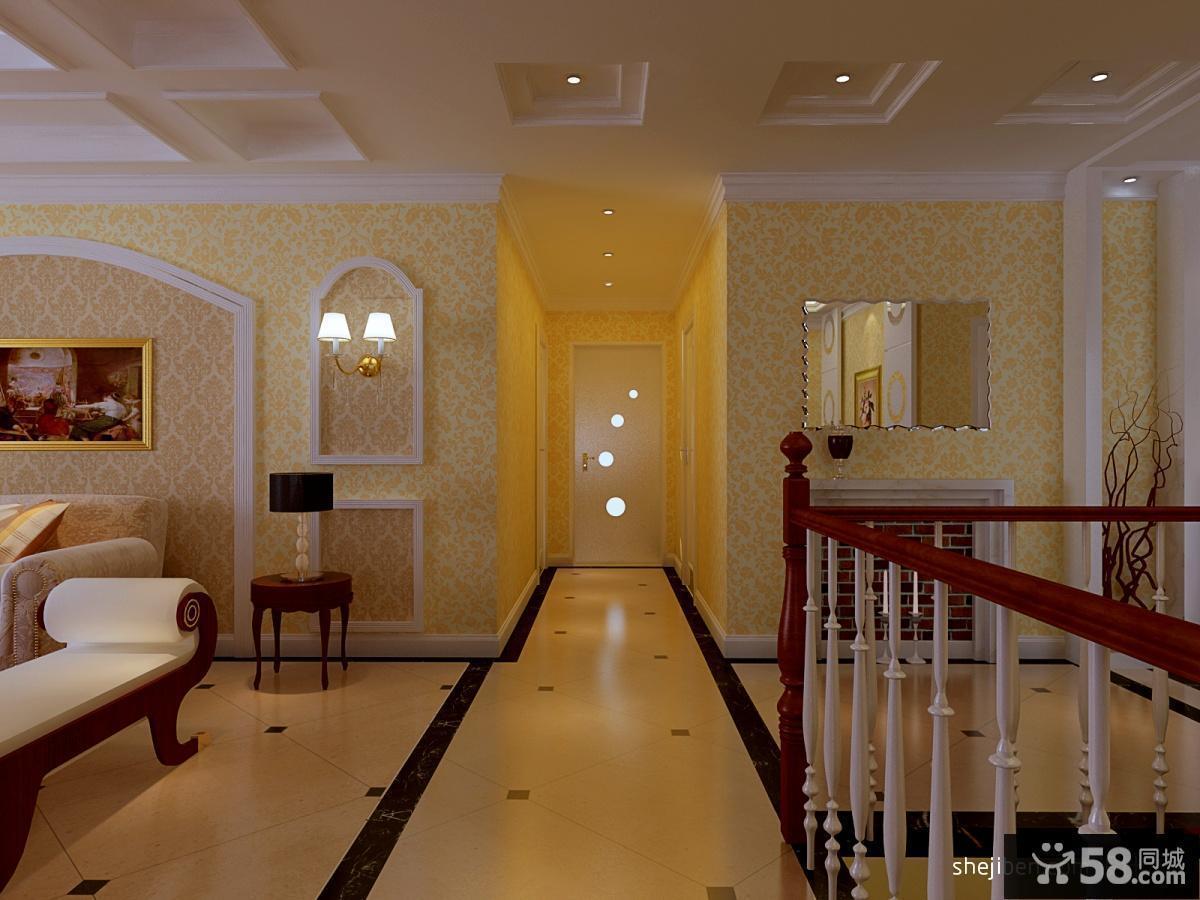 2012最新别墅二楼玄关走道装修效果图