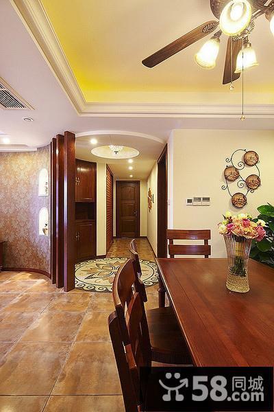 客厅背景墙地中海