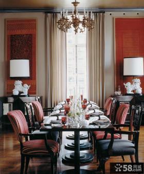 欧式豪华装修室内餐厅效果图大全