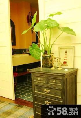 欧式玄关柜图片