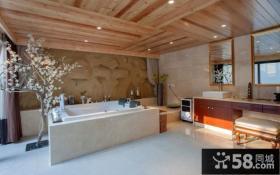 东南亚风格别墅卫生间装修图片欣赏