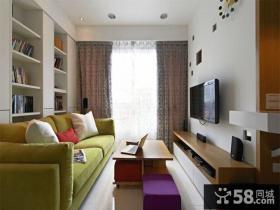 北欧自然风格小户型客厅设计装修图片