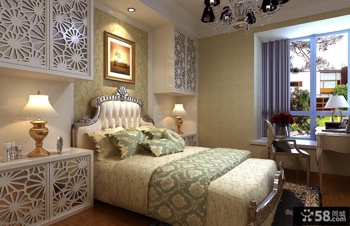 欧式田园卧室吸顶灯图片欣赏