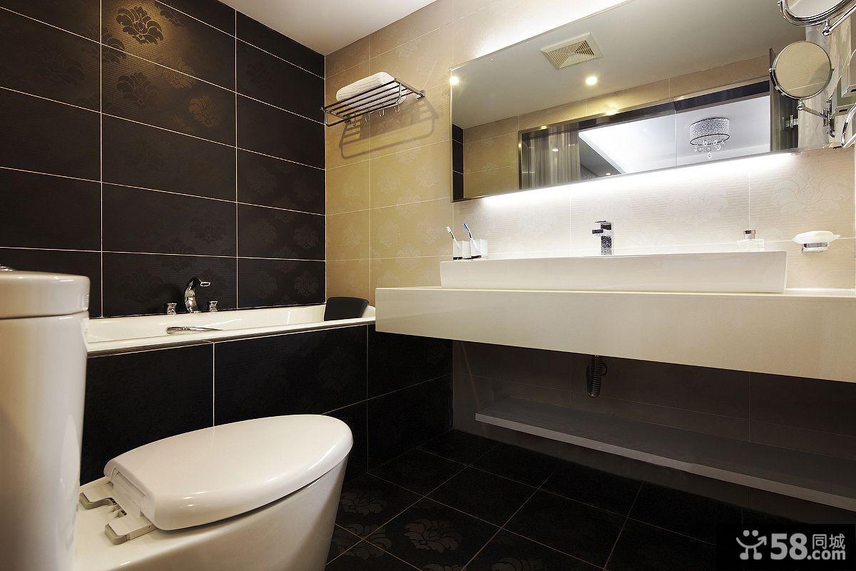 现代简装卫生间装修效果图大全