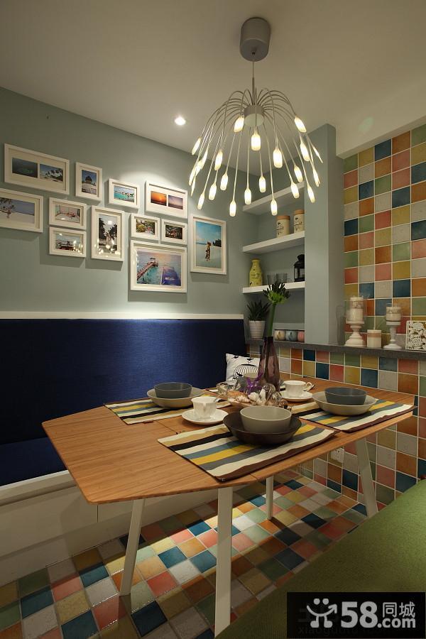 中式风格餐厅照片墙效果图