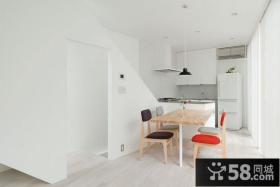 白色简洁的家简约风格装修餐厅图片