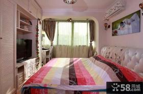 卧室电视组合柜装饰效果图片